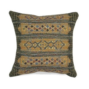 """Liora Manne Marina Tribal Stripe Indoor/Outdoor Pillow Green 18"""" Square"""