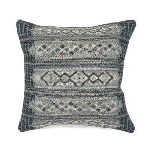 "Liora Manne Marina Tribal Stripe Indoor/Outdoor Pillow Denim 18"" Square"
