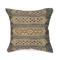 "Liora Manne Marina Tribal Stripe Indoor/Outdoor Pillow Black 18"" Square"