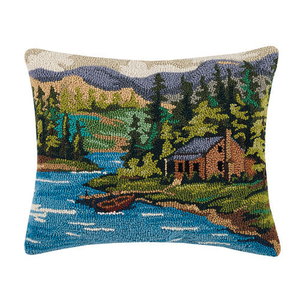 Cabin by the Lake Hook Pillow