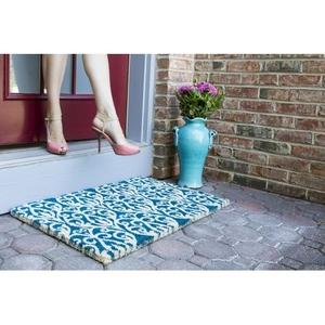 WILLIAMSBURG Bristol Scroll Handwoven Coconut Fiber Doormat