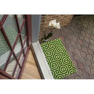 WILLIAMSBURG Georgian Geo Handwoven Coconut Fiber Doormat