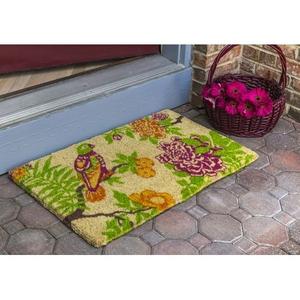 WILLIAMSBURG Summer Peony Handwoven Coconut Fiber Doormat