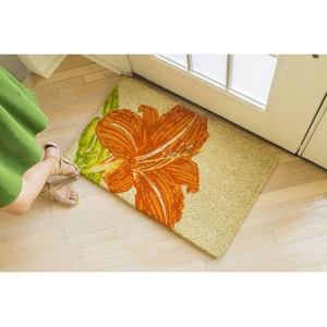 WILLIAMSBURG Tangerine Lily Handwoven Coconut Fiber Doormat