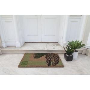 WILLIAMSBURG White Pine Handwoven Coconut Fiber Doormat