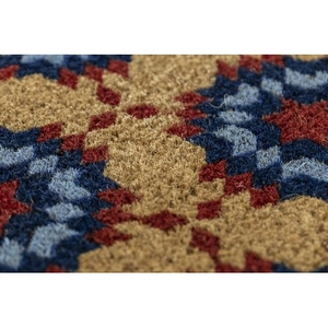 WILLIAMSBURG Star Quilt Handwoven Coconut Fiber Doormat