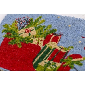 Merry Sleigh Coir Doormat with Backing