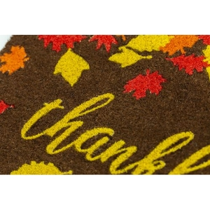 Thankful Coir Doormat with Backing