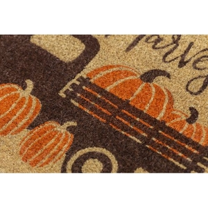 Happy Harvest Coir Doormat with Backing