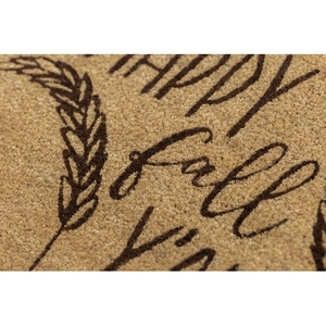Happy Fall Y'all Coir Doormat with Backing