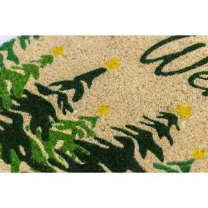 Winter Fir Coir Doormat with Backing