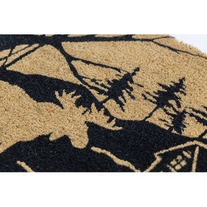 Moose Lodge Coir Doormat with Backing