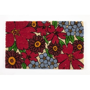 Forget-Me-Nots Coir Doormat with Backing