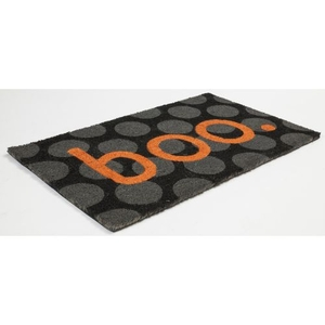 Boo Coir Doormat with Backing