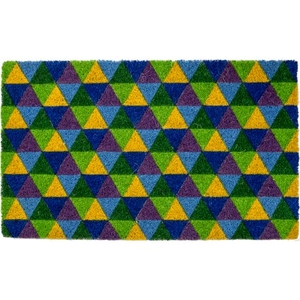 Triangles Coir Doormat with Backing