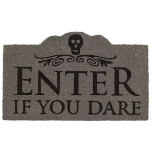 Enter if You Dare Coir Doormat with Backing