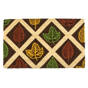 Leaf Rubbing Coir Doormat with Backing
