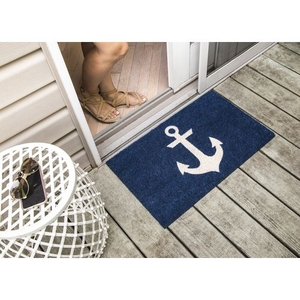 Blue Anchor Coir Doormat with Backing