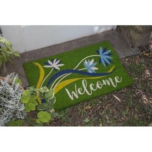 Welcome Breeze Coir Doormat with Backing