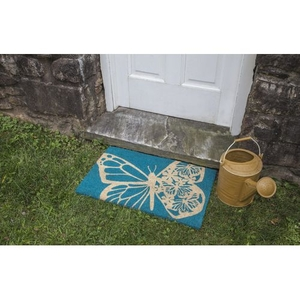 Butterfly Coir Doormat with Backing