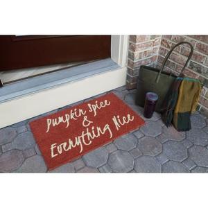 Pumpkin Spice Coir Doormat with Backing