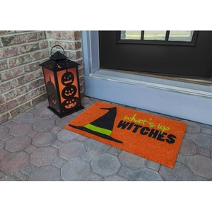 What's Up Witches Coir Doormat with Backing