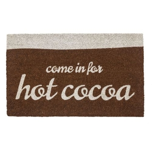 Hot Cocoa Coir Doormat with Backing