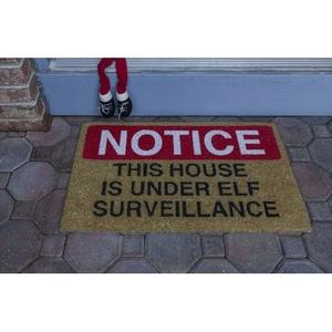 Elf Surveillance Coir Doormat with Backing
