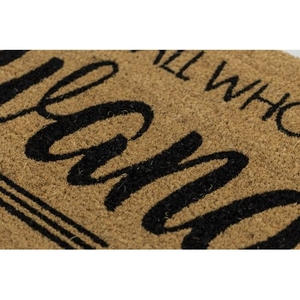 Not All Who Wander Coir Doormat with Backing