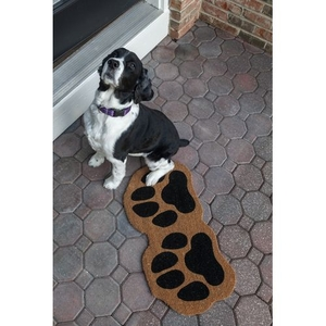 Paw Prints Coir Doormat with Backing