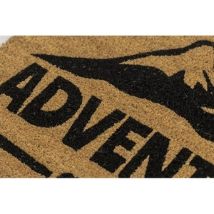 Adventure Awaits Coir Doormat with Backing