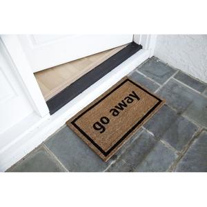 Go Away Coir Doormat with Backing