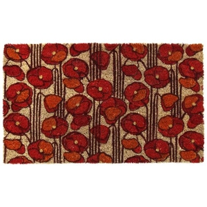 Poppies Coir Doormat with Backing