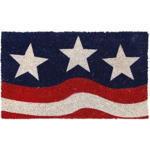 Stars and Stripes Coir Doormat with Backing