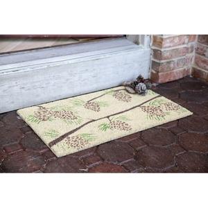 Pine Cones Coir Doormat with Backing