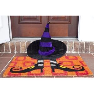 Wicked Witch's Shoes Handwoven Coconut Fiber Doormat