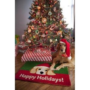 Dog Lovers' Holiday Handwoven Coconut Fiber Doormat