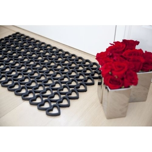 Hearts Recycled Rubber Doormat