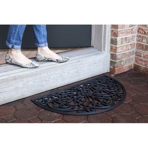 Half Round Recycled Rubber Doormat