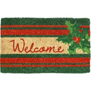 Welcome Holly Handwoven Coconut Fiber Doormat