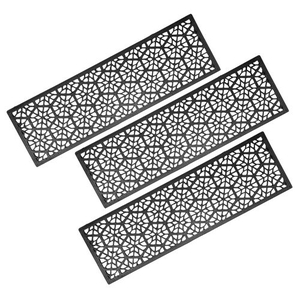Hexagons Stair Tread Recycled Rubber Doormat (Set of 3)