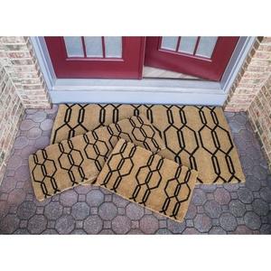 Gossamer 18x30 Extra - Thick Handwoven Coconut Fiber Doormat
