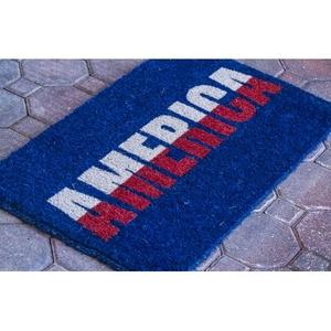 America Handwoven Coconut Fiber Doormat