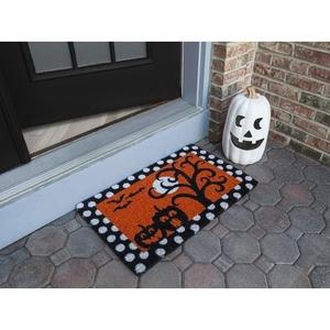 Frightful and Delightful Handwoven Coconut Fiber Doormat