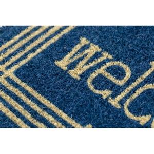 Linear Welcome Handwoven Coconut Fiber Doormat