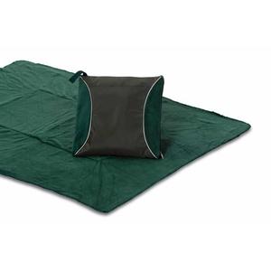 Green Fleece Blanket Cushion