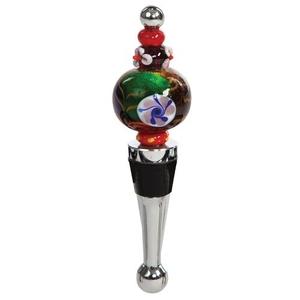 Round Beaded Beaded Round Bottle Stopper