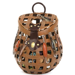 Fishing Basket Cork Caddy Fishing Basket
