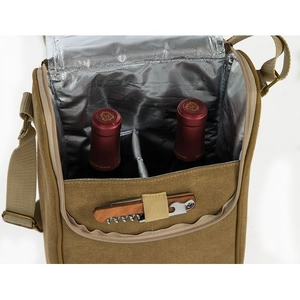 Tan BYOB Double Bottle Wine Bag