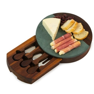 Green Winslow Marble Cheese Tray